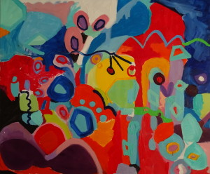 Abstract Painting, Oil on Canvas