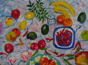 Still Life Painting, Acrylic on Canvas